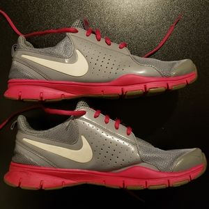 Pink and Gray Nike Women's Trainers 9
